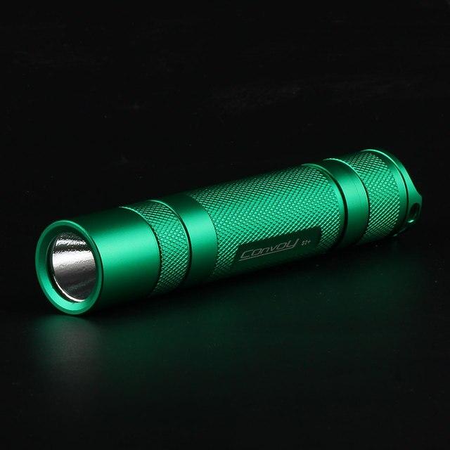 Конвой S2 + зеленый Cree XML2 U2-1A Повседневный светодиодный фонарь, фонарь, фонарь для самозащиты, Отдых на природе света, лампа, для велосипеда, подарок для парней