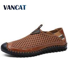 Yeni gündelik erkek ayakkabısı yaz nefes örgü erkek ayakkabıları erkek moda makosen ayakkabılar yumuşak rahat daireler Zapatos Hombre boyutu 38 48