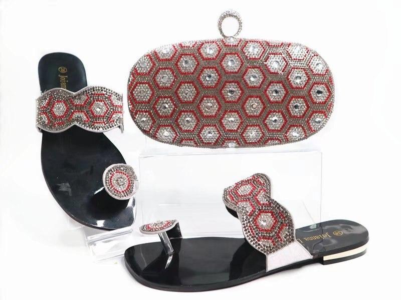 Belle Sb8091 Avec Gratuite Et 3 Livraison Chaussures Beaucoup Plaine Assorti De Couleur Pantoufles Sac Pierres Ensemble Argent gqIwS8Zx6