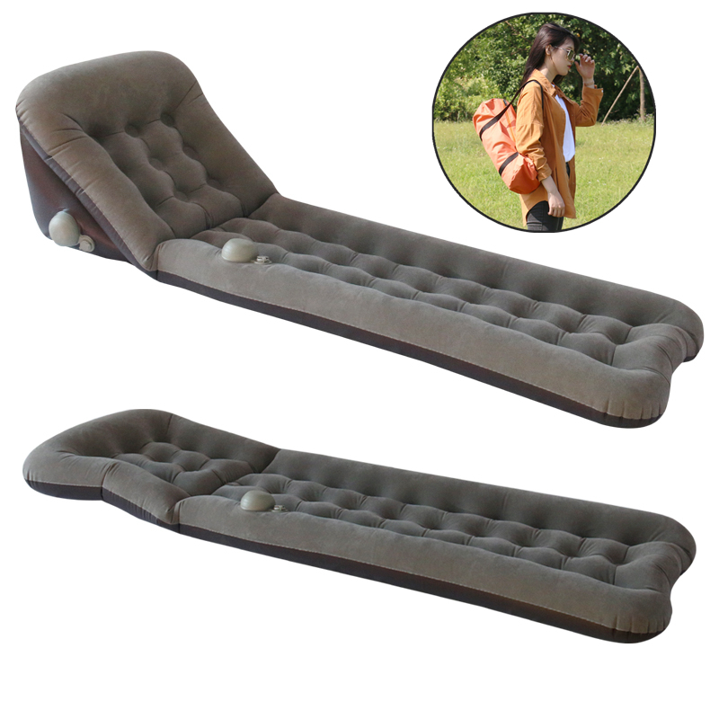 Sun Lounger PVC Self-inflating Inflatable Mattress for Camping Outdoor Airbed Sleeping Pad Bed Beach Air Sofa Chair Picnic Mat leather