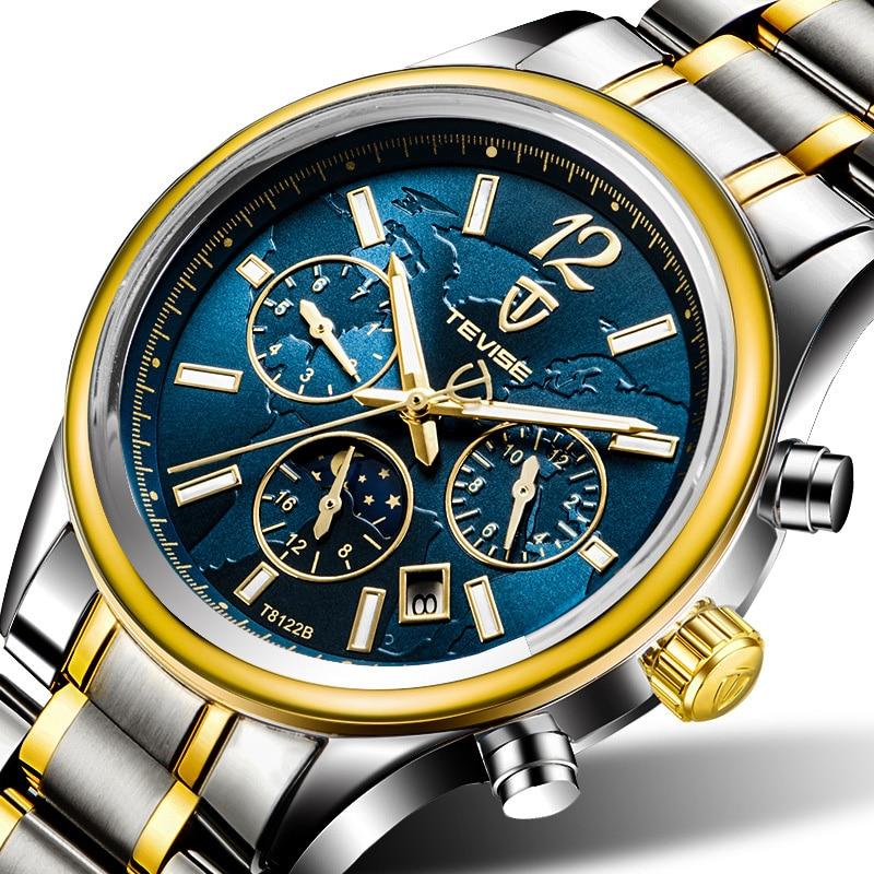 NEW Creative watches men luxury watch strap Automatic Mechanical Wristwatches business waterproof Moon Phase Luminous T8122B