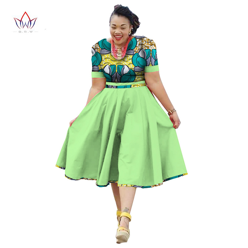 African Print Fashion: Plus Size Clothing 2017 Summer Dress African Print Dress