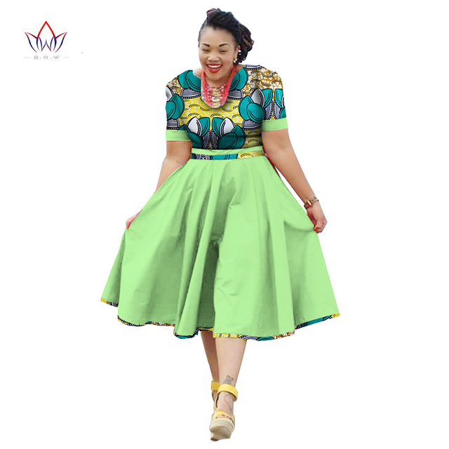 Plus Size Clothing 2018 summer Dress African Print Dress Dashiki ...