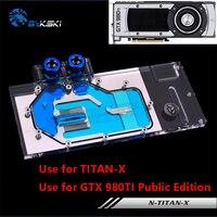 Bykski NIVDIA GTX TITAN X GTX980TI Public Version Full Cover Graphics Card Water Cooling Block N