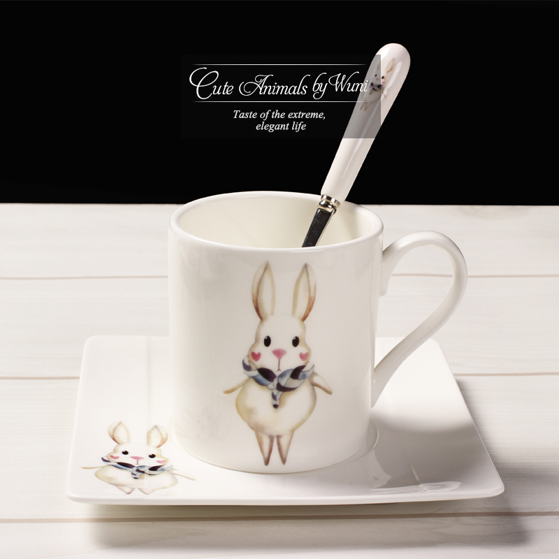 180 Ml Fashion Breakfast Animal Coffee Cup Cute Creative Milk Brief Set With Spoon Cups And Saucers In From Home