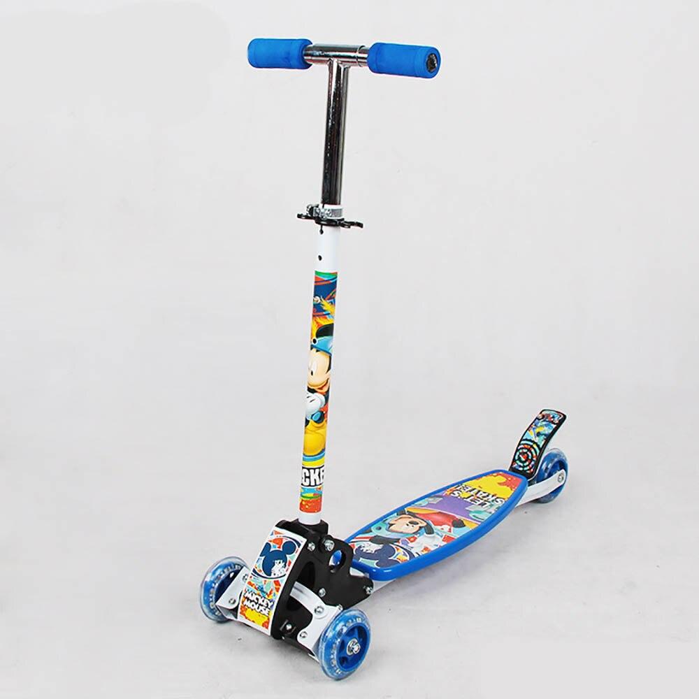 Enfants bébé clignotant led roues amovible hauteur réglable planche à roulettes coup de pied Scooter 3 roues scooter