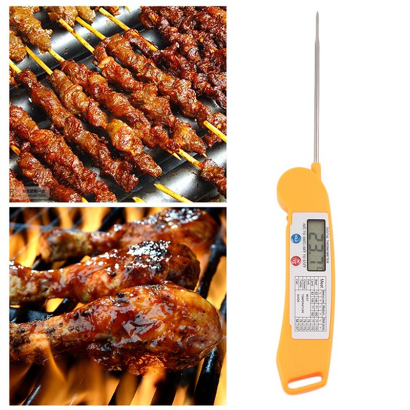 2017 Hot Sale Fast Instant Read Digital Barbecue BBQ Meat Food Thermometer W/Folding Probe ev3
