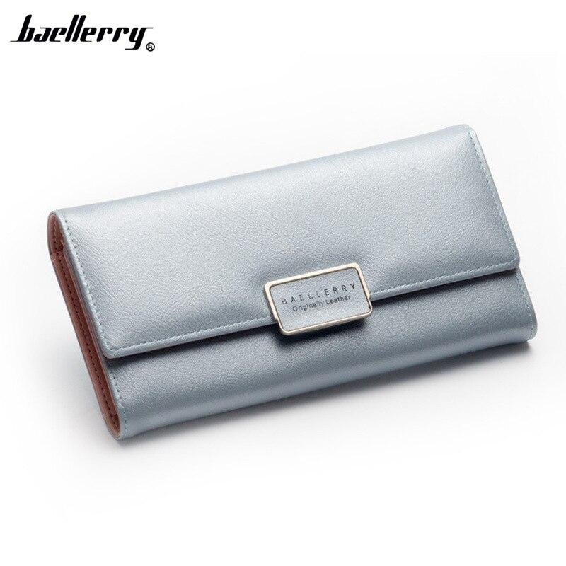 Baellerry Wallets Women Long Leather Card Holder 2017 Womens Purses Luxury Brand Famous Dollar Price Purse Female Clutch Wallet