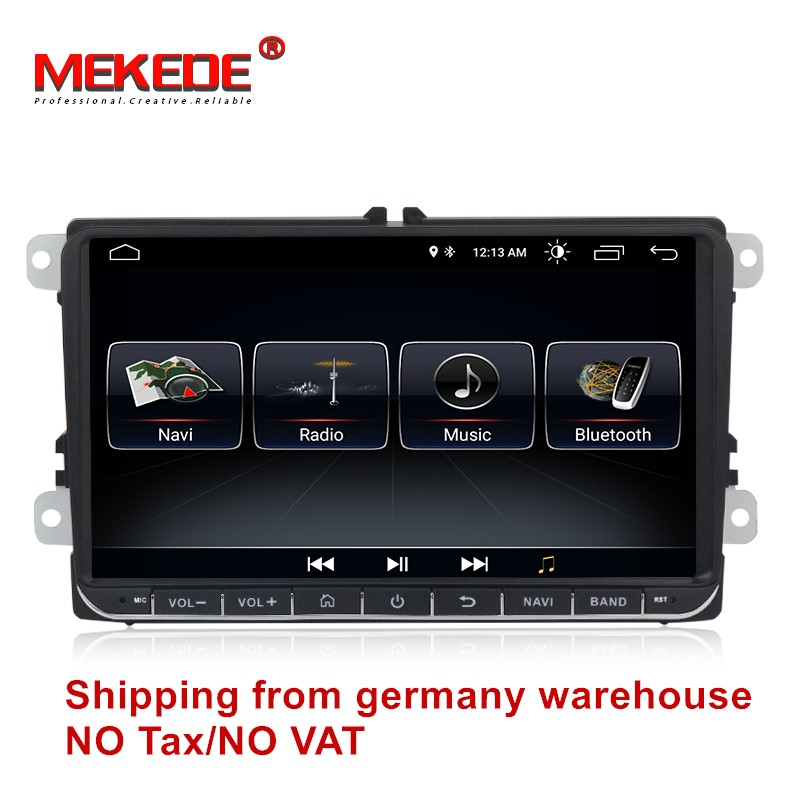 цена на free shipping Android 8.0 Car GPS navigation DVD player For VW golf 4 golf 5 6 touran passat B6 jetta caddy transporter t5 pol