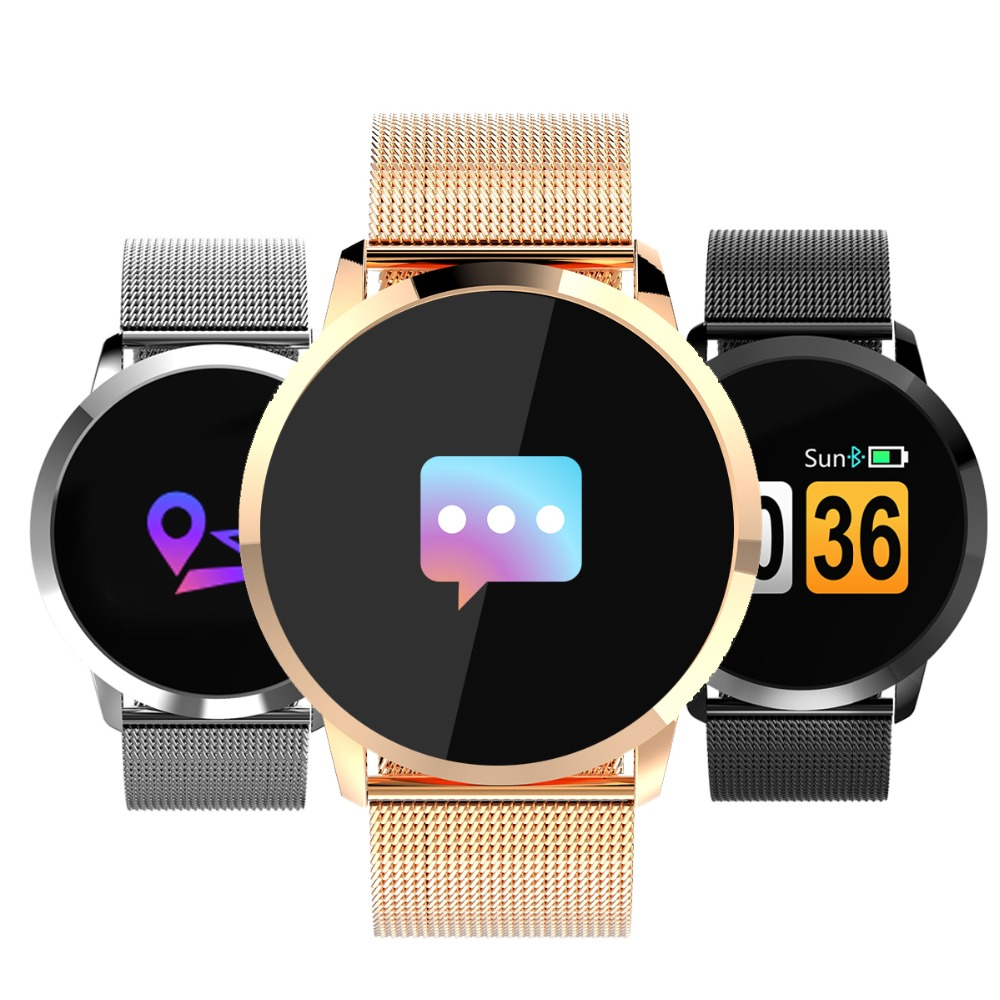 Newwear Q8 Smart Uhr OLED Farbdisplay Intelligente Elektronik Smartwatch Mode Fitness Tracker Herzfrequenz Bluetooth Männer Mann Frauen