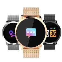 Получить скидку Newwear Q8 Смарт-часы OLED Цвет Экран Smart Electronics Smartwatch модные Фитнес трекер сердечного ритма Bluetooth Для мужчин человек Для женщин