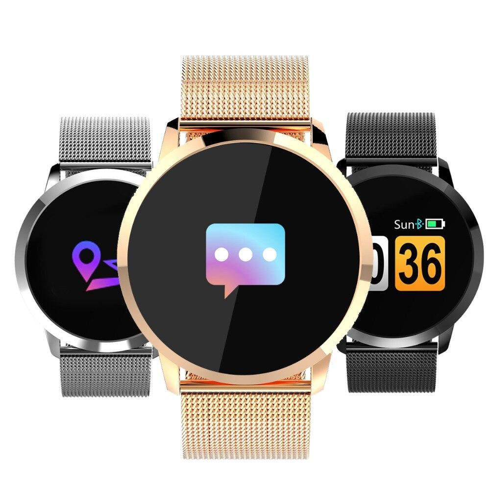 Newwear Q8 Intelligente Orologio Schermo A Colori OLED Articoli Elettronica Smart, smartwatch, bracciali smart fitness Inseguitore di Fitness Frequenza Cardiaca Bluetooth di Modo Smartwatch Donne Uomini Uomo