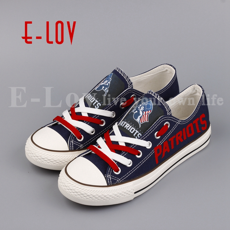 E-LOV Low Top Women Casual Canvas Shoes Custom Printed Blue Flat Leisure Shoes Chaussures Femmes For Valentine Gifts e lov women casual walking shoes graffiti aries horoscope canvas shoe low top flat oxford shoes for couples lovers