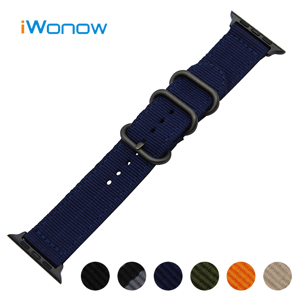 Nylon Watchband + Upgraded Adapter for 38mm 42mm iWatch Apple Watch Series 1 2 3 Sports Band Fabric Strap Canvas Wrist Bracelet woven nylon sports band for apple watch outdoors survival strap belt for 38 42mm iwatch series 1 2 3 men s wrist bracelet i71