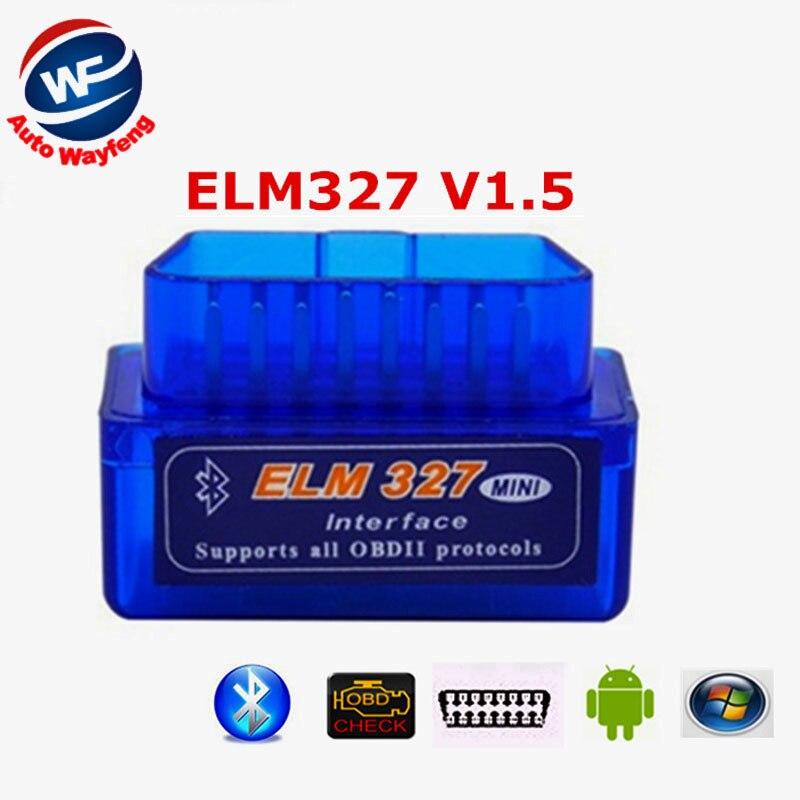 2016 ELM 327 V 1.5 BT adaptateur Fonctionne Sur Android Couple Elm327 Bluetooth V1.5 Interface OBD2/OBD II Car Auto Diagnostic-Scanner