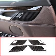 Углеродного волокна Стиль безопасность блокировка дверей Обложка блесток отделка украшения для BMW X5 F15 X6 F16 2014-2018 автомобилей стайлинг 4 шт./компл.