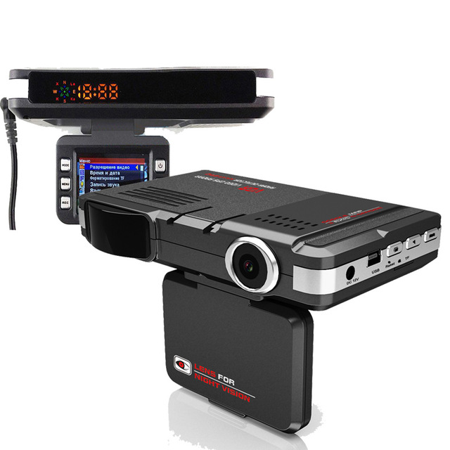 ФОТО 2 In1 Car Radar Detector VGR car detector dvr camera HD 720P 120 Degree View Angle full band radar detector English& Russian