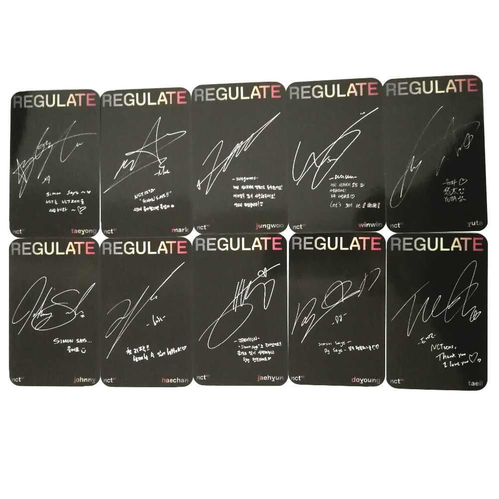 Youpop KPOP NCT127 NCT 127 U регулировать альбом фото карты хип хоп самодельные бумажные карты автограф Фотокарта XK606