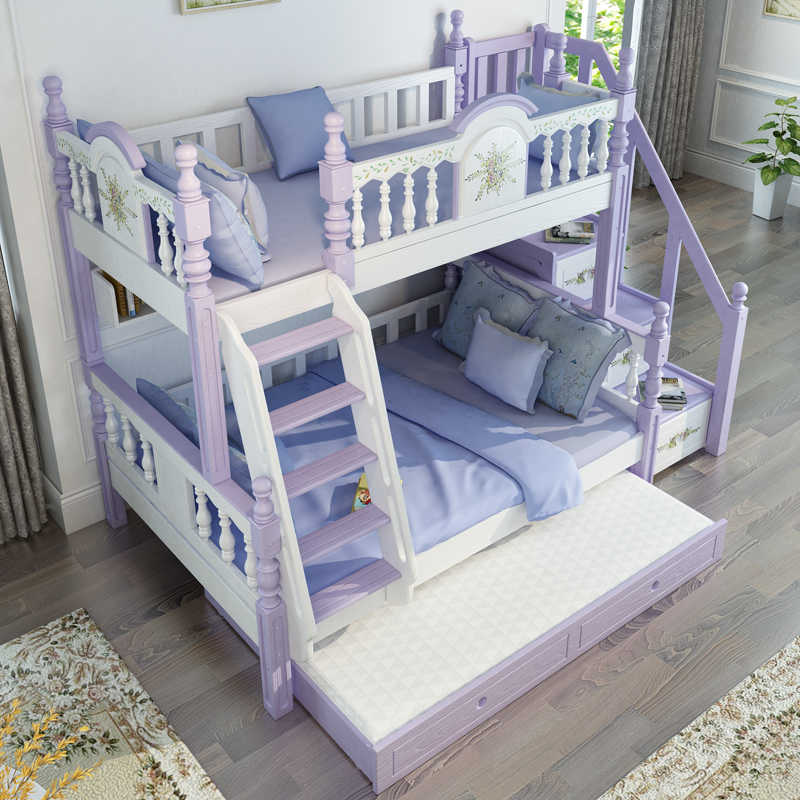 Foshan Modern Oak Wood Bunk Beds Kids Bedroom Furniture Sets For Boys Girls Bedroom Sets Aliexpress