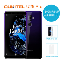 OUKITEL U25 Pro 5,5 «2.5D Incell Дисплей 13MP + 2MP/5MP Android 8,1 мобильный телефон MT6750T Octa Core, 4 ГБ, 64 ГБ, смартфон с отпечатками пальцев