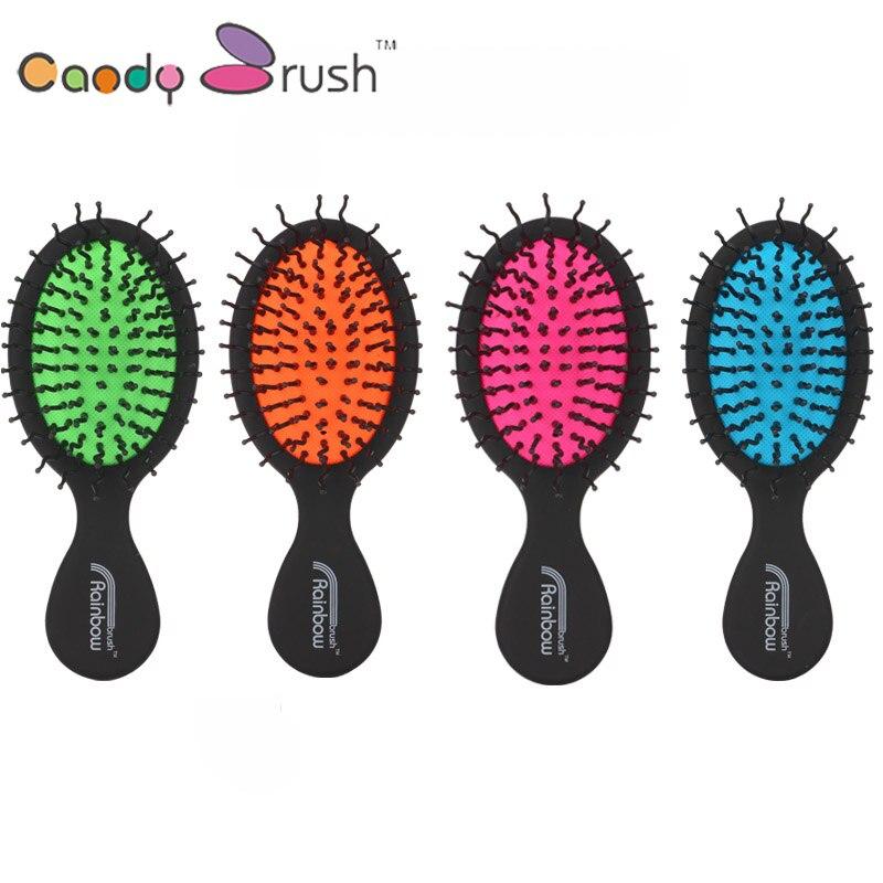 la mia ragazza piccolo capelli bagnati brush vendita calda nero ago curvo arcobaleno pettine dei capelli
