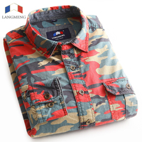 100 Cotton Man Casual Camouflage Shirt Men Army Tactical Combat Casual Shirt Military Sport Camo Camp