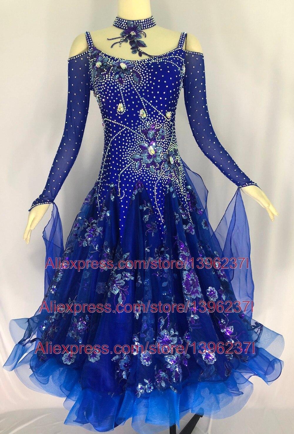 26913523 ⑤Damska Sukienka Tańca Towarzyskiego Royal Blue Zawód Custom Made ...