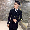 2016 Mens Blazer Medium-long  Style Black Blue Blazer Jackets Slim Fit Double Breasted Britsh Fashion Trendy Casual Suits Army