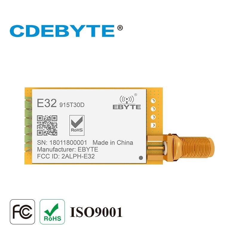 10pc/lot LoRa Module 915MHz Wireless Transceiver E32-915T30D 30dBm 1W UART DIP IoT Transmitter And Receiver