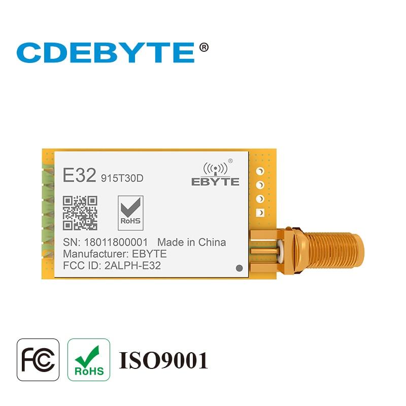 E32-915T30D Lora largo alcance UART SX1276 915 MHz 1 W antena SMA IoT uhf transceptor inalámbrico módulo receptor transmisor