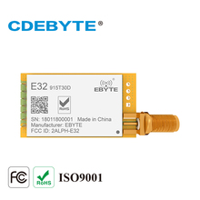 E32 915T30D لورا طويلة المدى UART SX1276 915mhz 1 واط SMA هوائي IoT uhf جهاز استقبال واستقبال لاسلكي جهاز ريسيفر استقبال وإرسال وحدة