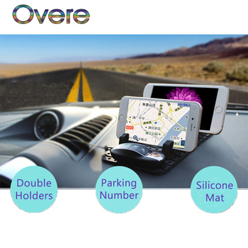 Overe 1Set Car parking card Phone stand Auto Non-slip mat For BMW E60 E36 E46 E90 E39 E30 F30 F10 F20 X5 E53 E70 E87 E34 E92 M image