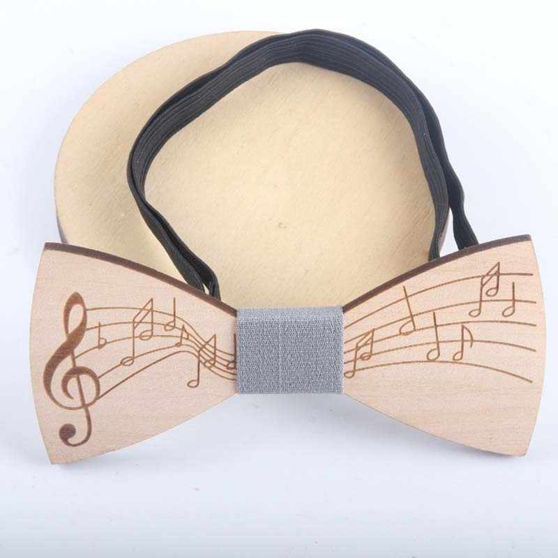 Helisopus New Men's Bow Tie Handmade Wooden Neckties Fashion Butterfly Unique Tie for Man Party Accessories
