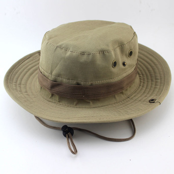 Military Camouflage Boonie Hat High Quality Outdoor Bucket Hats Hunting Hiking Fishing Climbing ARMY MULTICAM HAT 26 Colors AE1 4