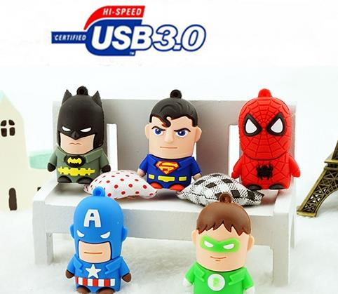 @Superman Iron Man Green Spider Batman cartoon Captain USB 3.0 League of Legends usb flash drive 4GB-64GB YYS23