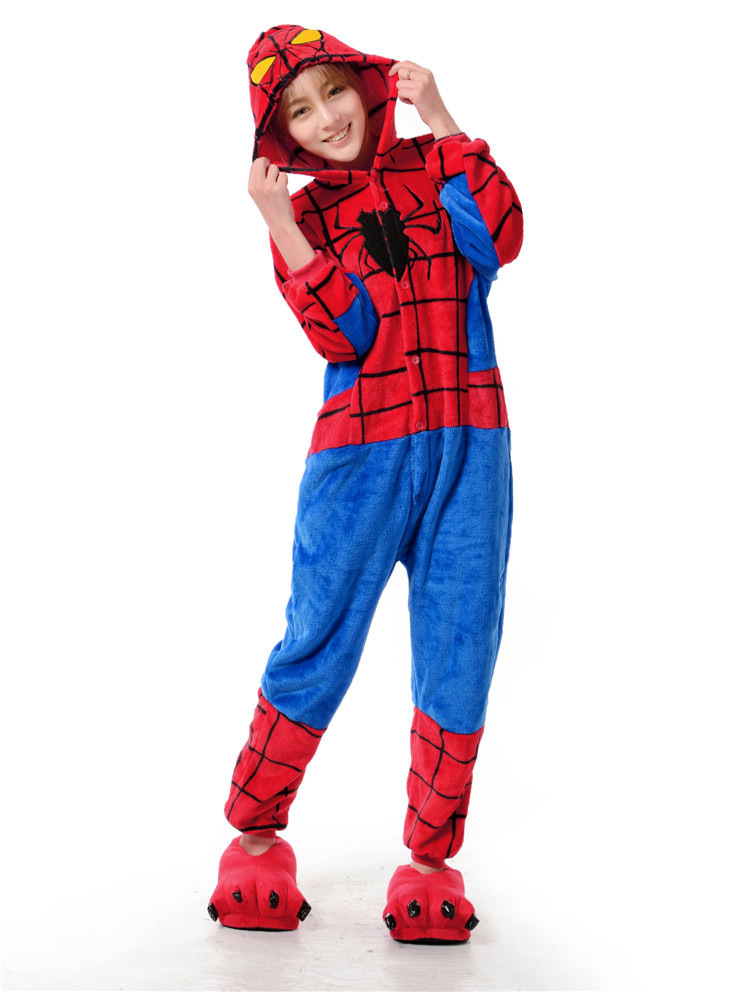 6119c9784a5d Adult Superhero Costume Spiderman Onesies For Adult Men And Women One Piece  Onesie Pajamas Animal Costume-in Men s Costumes from Novelty   Special Use  on ...