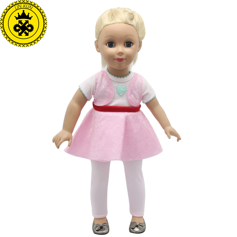 இ18 pulgadas American Girl princesa muñeca ropa falso dos piezas ...