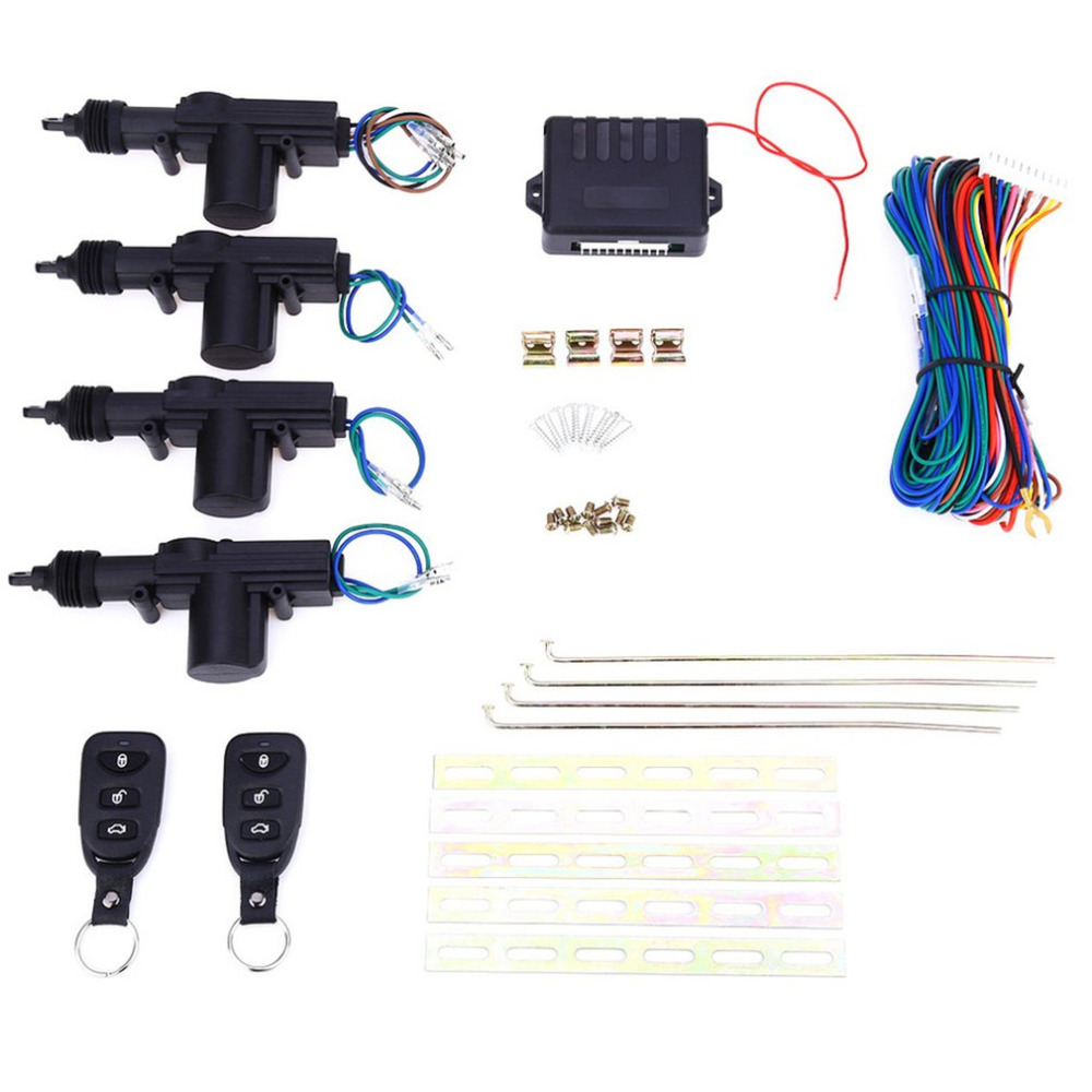 Universal Car Remote Control Central Door Locking System Kits DC 12V Vehicles Anti theft Alarm Keyless Entry System