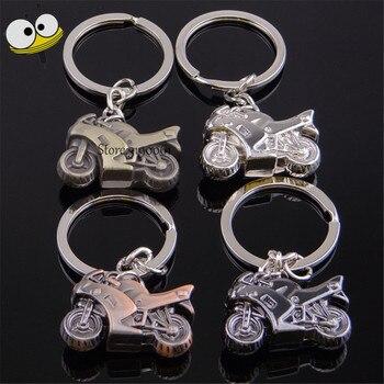 Fashion 3D Metal Motorcycle Keychain Car Key Ring Key Holder Car Styling For Vauxhall Suzuki Ford Toyota Dodge BMW Benz Fiat Kia Мотоцикл
