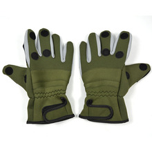 Top Quality Outdoor Camouflage Winter Fishing Gloves Thickened Non Slip Fishing Gloves Waterproof Thermal 3 Half Finger Gloves