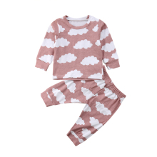 цены Toddler Kids Baby Girls Clothes Cloud Print T-shirt Long Sleeve Tops Long Pants Leggings Outfit 2PCS Set 2019
