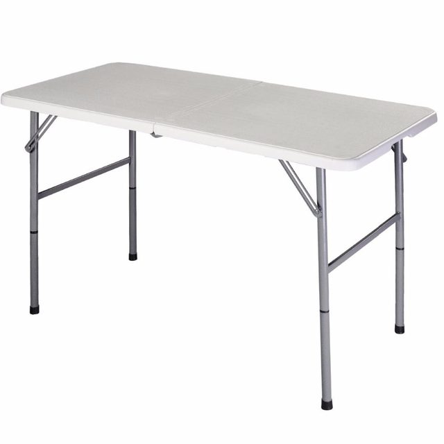 Giantex Folding Table Portable Picnic Party Dining Camp Tables White Modern Desk Utility Office Computer Op2968