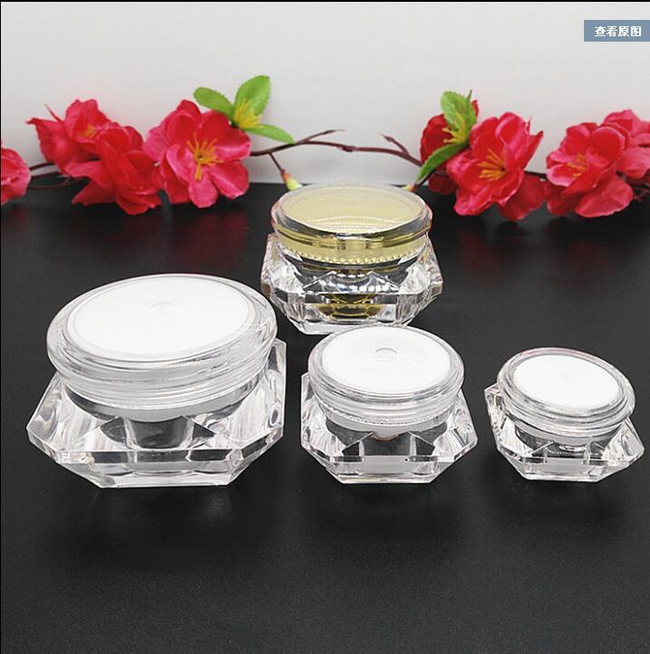 010fbf763b2 O Envio gratuito de 3 g ml Branco rosa Roxo Acrílico garrafa Vazia jar Top  Grade Eye Gel Amostra Loção Vazio Embalagens de Cosméticos