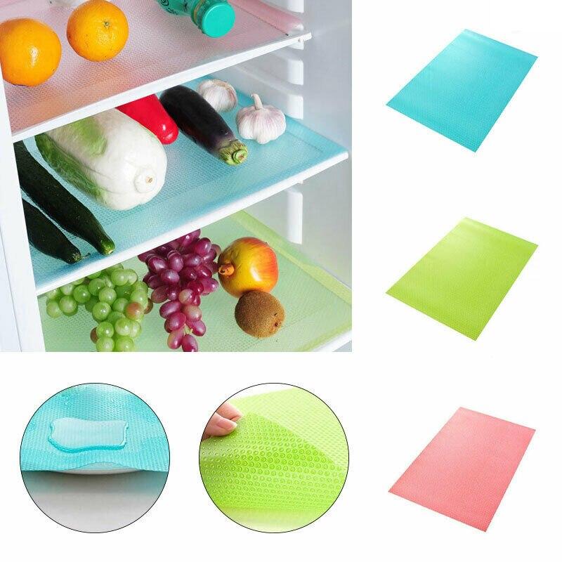 4X Refrigerator Pad Antibacterial Antifouling Mildew Waterproof Refrigerator Mat