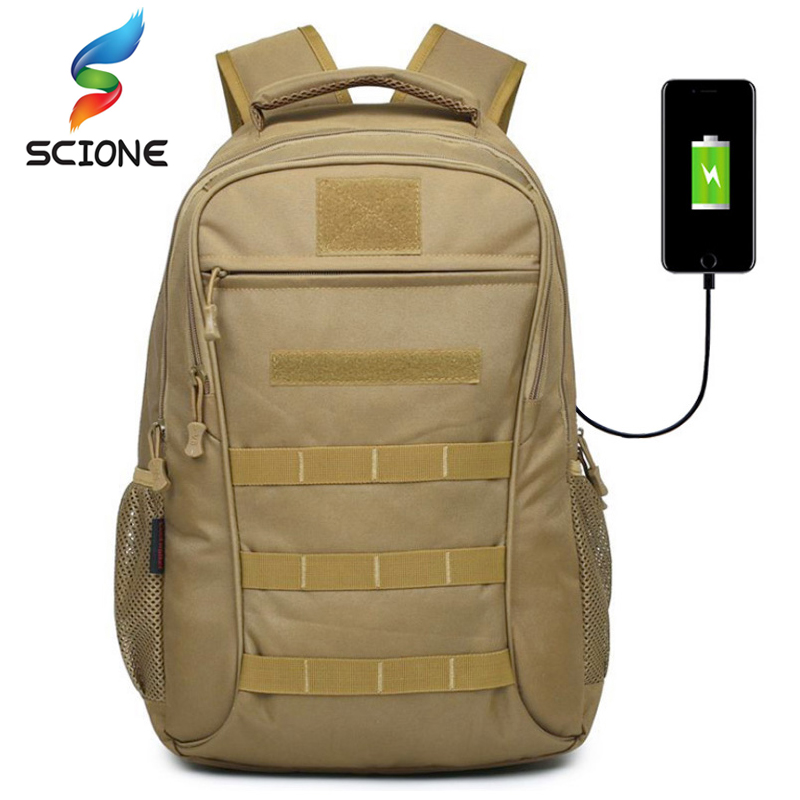 Top Nylon Tactical Backpack 35L Outdoor External USB Muti-Function Climbing Wearable Sports Bag Waterproof Army Travel Rucksack outdoor nylon waterproof men sports hiking climbing double shoulder bags 35l military tactical durable travel backpack rucksack