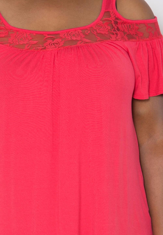 HTB1n41VKFXXXXbQXFXXxh4dFXXXM - Off Shoulder Summer Tops Short Sleeve Lace Patchwork Loose