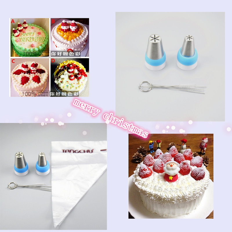 Merry Christmas 6pcs Set Russian Tips Icing Piping Nozzles Icing Piping Nozzles Russian Piping Nozzles Cake Decorating Tips