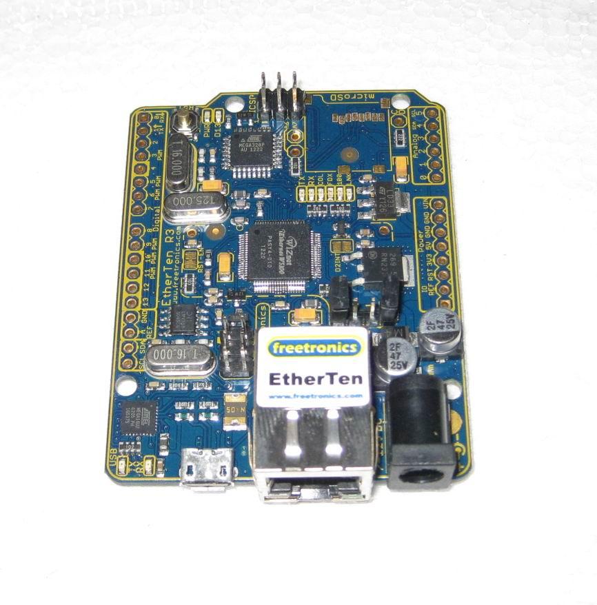 FREETRONICS ETHERTEN DRIVER FOR PC