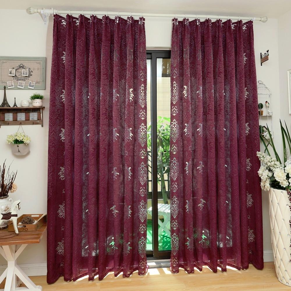 NAPEARL European Luxury Design Gray Coffee Curtain Kitchen