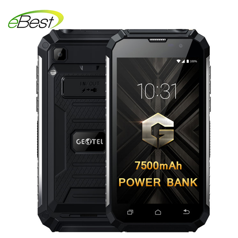 Geotel G1 2GB 16GB Cellphone  7500mAh Big Battery Power Bank Mobile Phone 5.0 Inch MTK6580A Quad Core Android 7.0 Smartphone-in Cellphones from Cellphones & Telecommunications    1